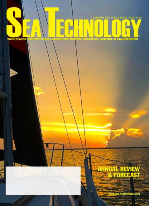 Sea Technology magazine January 2017 cover