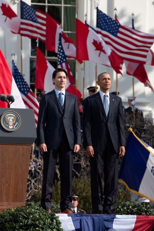 Barack Obama and Justin Trudeau